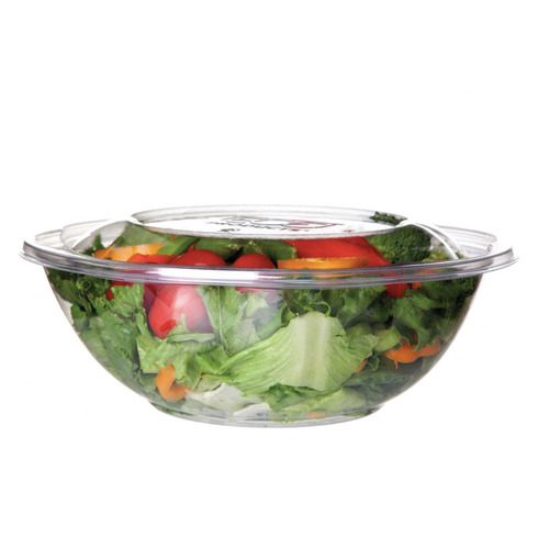 Eco-Products PLA Clear Lid Squat Salad Bowl - 64 oz - EP-SBS64