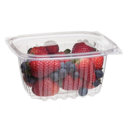 Eco-Products PLA Clear Rectangular Deli Lid Container - 16 oz - EP-RC16
