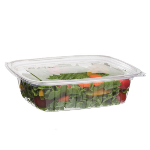Eco-Products PLA Clear Rectangular Deli Lid Container - 24 oz - EP-RC24