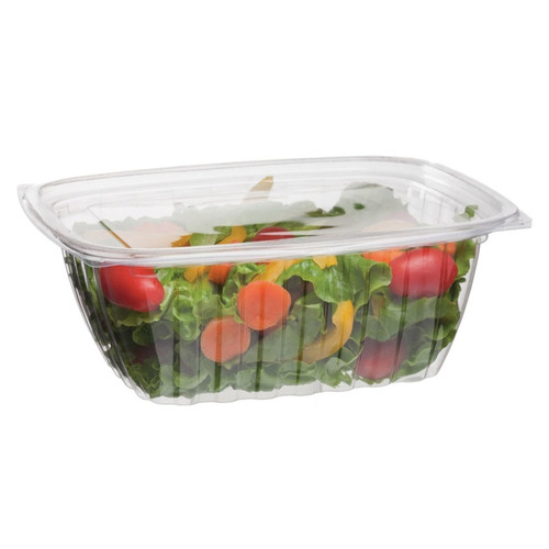 Eco-Products PLA Clear Rectangular Deli Lid Container - 32 oz - EP-RC32