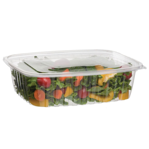 Eco-Products PLA Clear Rectangular Deli Lid Container - 48 oz - EP-RC48