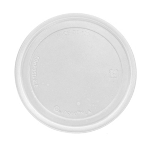 Eco-Products PLA Clear Flat Lid for Round Container - 5 oz - EP-RDP5LID