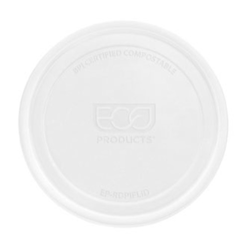Eco-Products PLA Clear Flat Lid for Round Container - 8-32 oz - EP-RDPLID