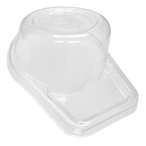 Eco-Products rPET Clear Dome Lid for Snack Cup - 10/2 oz - EP-SCC42LID-R