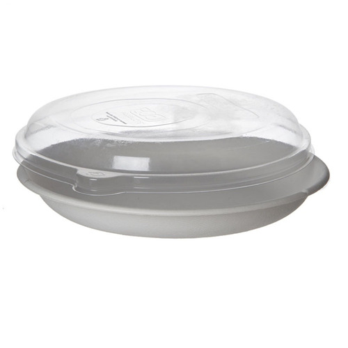 "Eco-Products rPET Clear Lid for Round Container - 9"" - EP-SCR9LID"