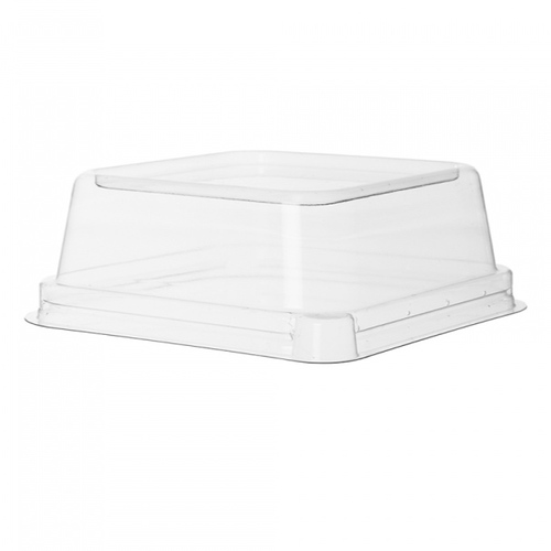 "Eco-Products PLA Clear Dome Lid for Square Container - 5"" - EP-SCS5LID"