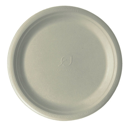 "Eco-Products Sugarcane Kraft Round Plate - 10"" - EP-NP005"