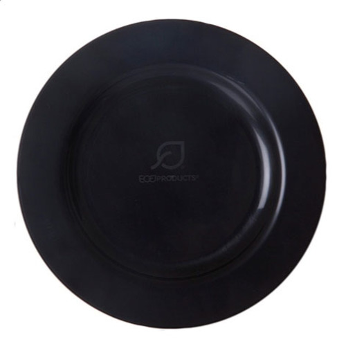 "Eco-Products PLA Black Plate - 7.5"" - EP-PB75"