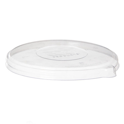 Eco-Products PLA Clear Flat Lid for 12-16 oz Coupe 16-40 oz Noodle Bowl - EP-BLLID