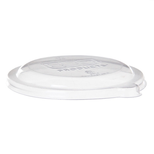 Eco-Products PLA Clear Flat Lid for Coupe Bowl - 6-8 oz - EP-BL6LID
