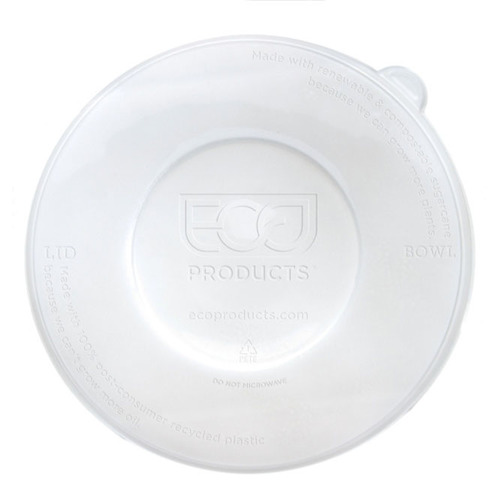 Eco-Products rPET Clear Flat Lid for 12-16 oz Coupe 16-40 oz Noodle Bowl - EP-BLRLID
