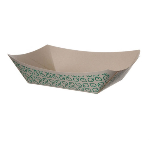 "Eco-Products Paper Kraft Leaf Tray - 2 lb - 6.5"" x 4.75"" x 1.75"" - EP-FT200"