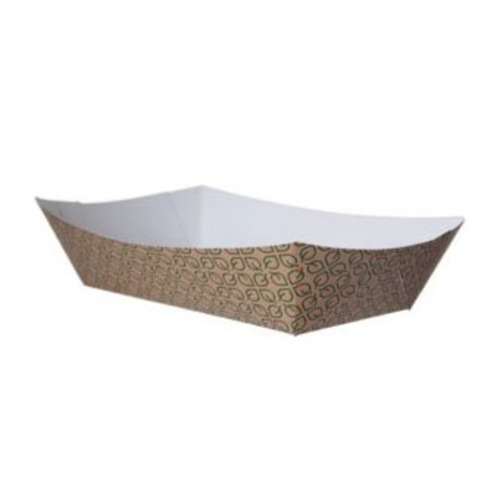 "Eco-Products Paper Kraft Leaf Tray - 5 lb - 9.5"" x 6.375"" x 2.125"" - EP-FT500"