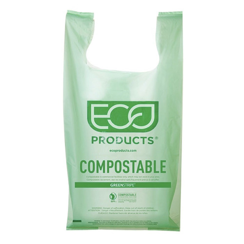 "Eco-Products PLA Green Shopper Bag - 17.7"" x 22.8"" - EP-CBLS"