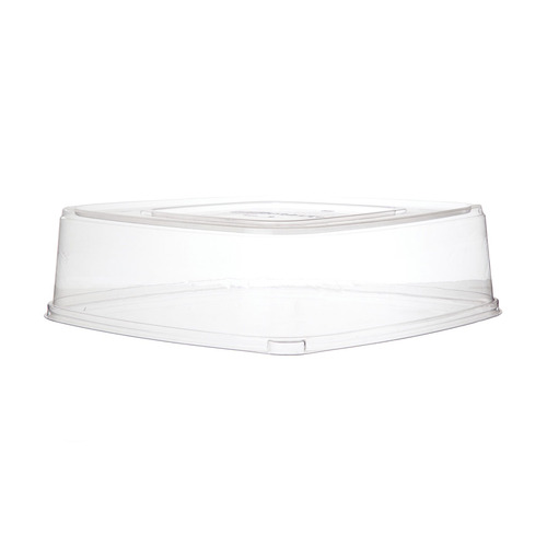 "Eco-Products PLA Clear Dome Lid for Tray - 16"" - EP-SCTRS16LID"