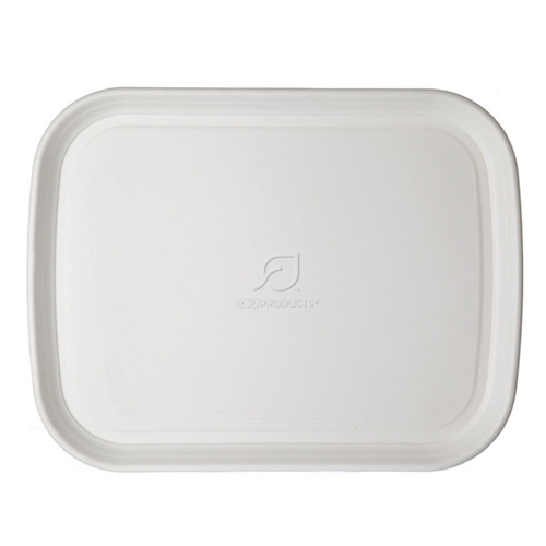 "Eco-Products Sugarcane White Tray - 13"" x 17"" - EP-SCTR1317"