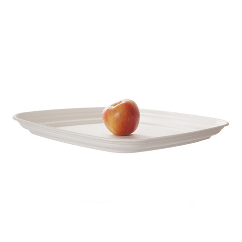 "Eco-Products Sugarcane White Tray - 14"" - EP-SCTRS14"