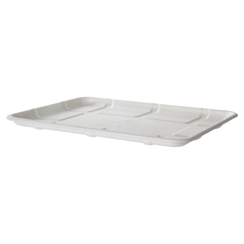 "Eco-Products Sugarcane White Tray - 10.5"" x 8.5"" x 0.5"" - EP-MP8S"