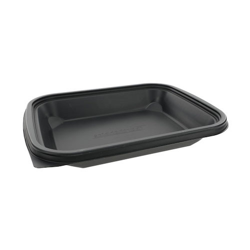 "EarthChoice MFPP Black Microwavable Container - 48 oz - 8"" x 10"" - YCNB8X104800"