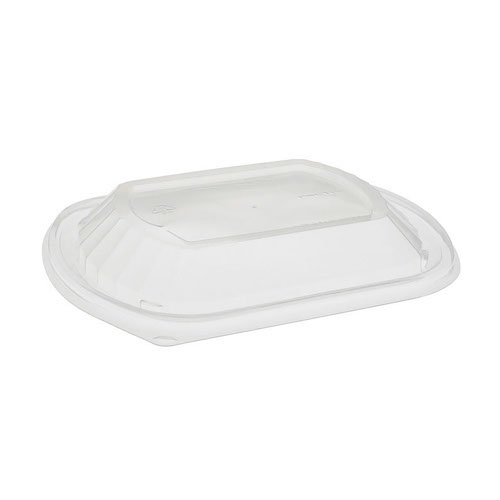 EarthChoice MFPP Clear Dome Lid for Microwavable Container - 16-32 oz - YCN8462HPPD0