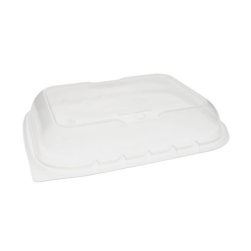 "EarthChoice PP Clear Vented Dome Lid for Microwavable Container - 7"" x 9"" - YCNV7X9PPDL"