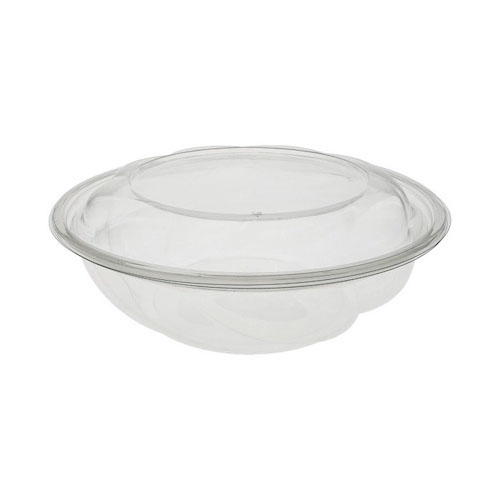 "EarthChoice rPET Clear Round Lid Bowl - 64 oz - 10"" - 1064PSSL"