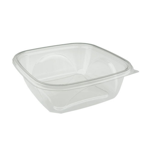 "EarthChoice rPET Clear Square Bowl - 64 oz - 9"" - SAC0964"