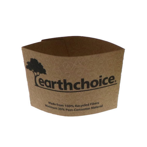 EarthChoice Paper Kraft Sleeve for Hot Cup - 12-20 oz - EC20000
