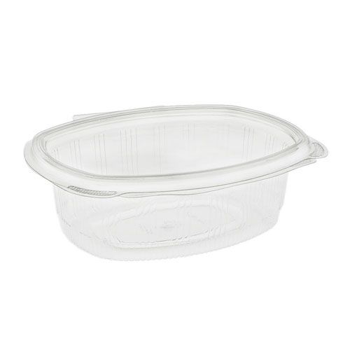"EarthChoice rPET Clear Hinged Lid Deli Container - 24 oz - 7"" x 6"" - YCA910240000"