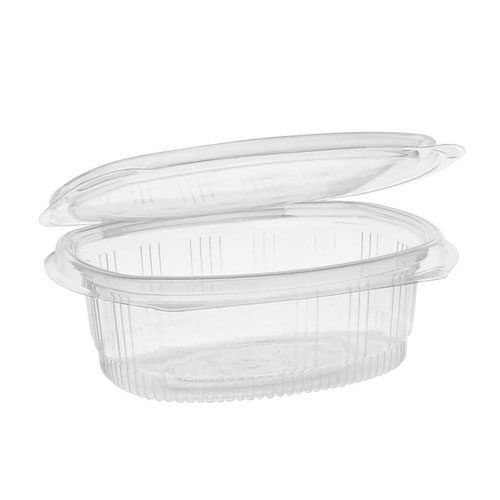 "EarthChoice rPET Clear Hinged Lid Deli Container - 16 oz - 5"" x 6"" - 0CA910160000"
