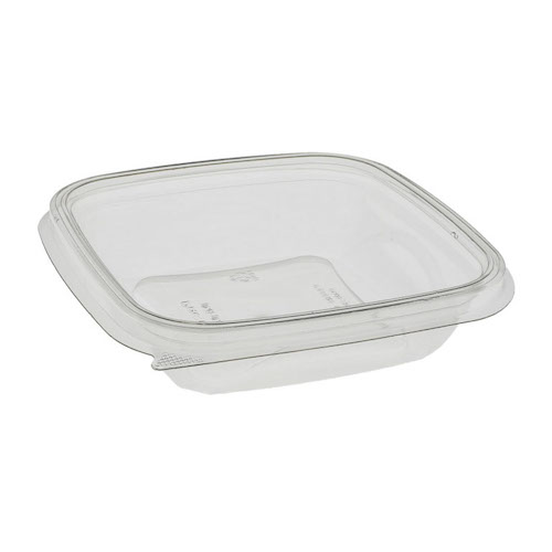 "EarthChoice rPET Clear Square Bowl - 8 oz - 5"" - SAC0508"