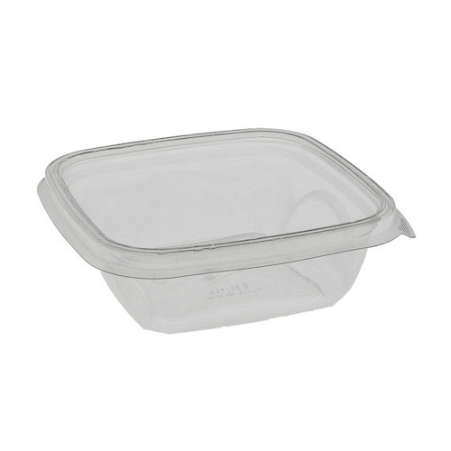 "EarthChoice rPET Clear Square Bowl - 12 oz - 5"" - SAC0512"