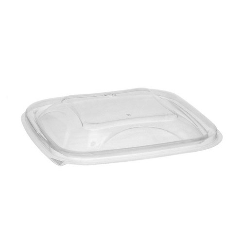 "EarthChoice rPET Clear Dome Lid for Square Bowl - 8-16 oz - 5"" - YSACLD05"
