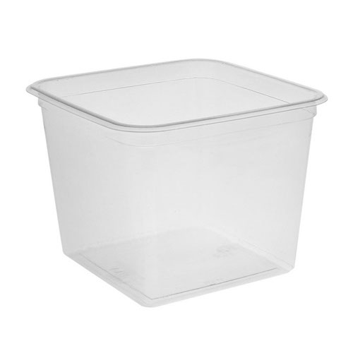 "EarthChoice rPET Clear Square Container - 48 oz - 6"" - Y6S48"