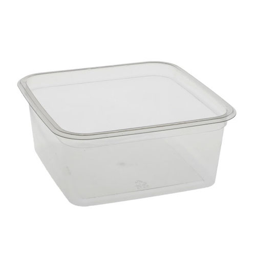 "EarthChoice rPET Clear Square Container - 32 oz - 6"" - Y6S32"