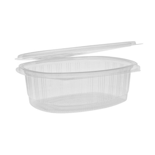 "EarthChoice rPET Clear Hinged Lid Deli Container - 48 oz - 9"" x 7"" - YCA910480000"