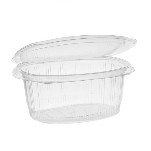 "EarthChoice rPET Clear Hinged Lid Deli Container - 32 oz - 7"" x 6"" - YCA910320000"