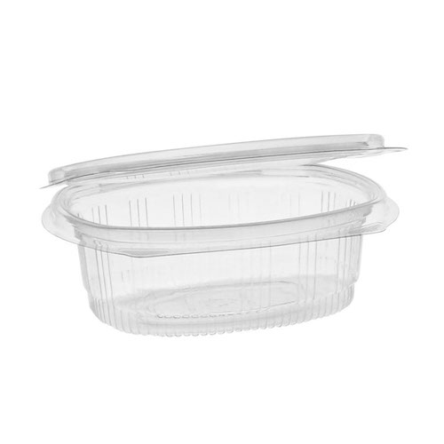"EarthChoice rPET Clear Hinged Lid Deli Container - 12 oz - 5"" x 6"" - 0CA910120000"