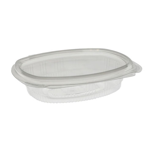 "EarthChoice rPET Clear Hinged Lid Deli Container - 8 oz - 5"" x 6"" - 0CA910080000"