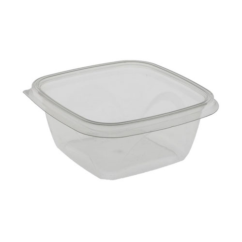 "EarthChoice rPET Clear Square Bowl - 16 oz - 5"" - SAC0516"