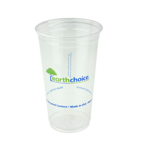 EarthChoice rPET Clear Print Cold Cup - 24 oz - YP24CEC2