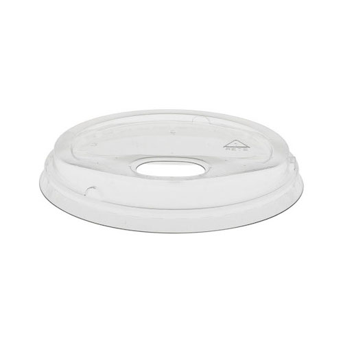 EarthChoice rPET Clear Flat Strawless Lid for Cold Cup - 12,16,20,24 oz - YLP24CLESS