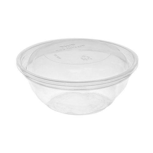 "EarthChoice rPET Clear Round Lid Bowl - 12 oz - 5"" - Y512PSSL"