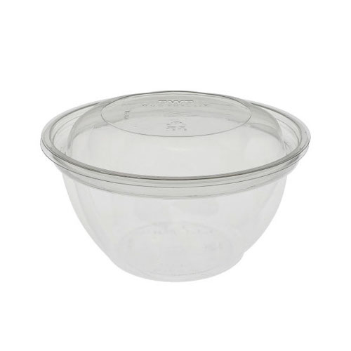 "EarthChoice rPET Clear Round Lid Bowl - 16 oz - 5"" - Y516PSSL"