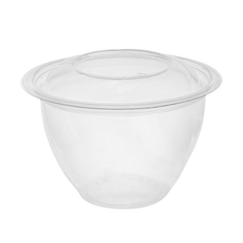"EarthChoice rPET Clear Round Lid Bowl - 48 oz - 7"" - 747PSSL"