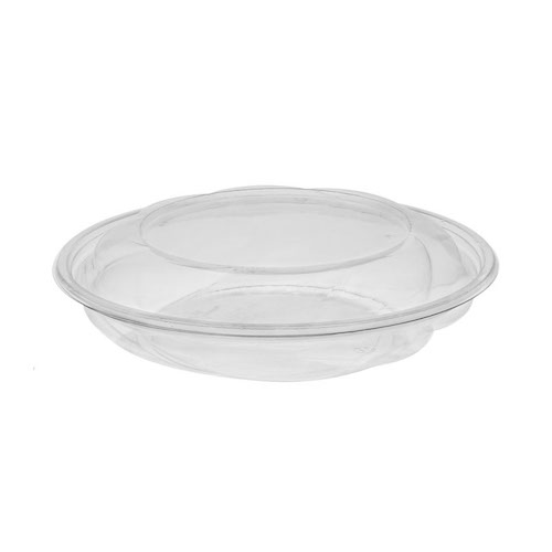 """EarthChoice rPET Clear Round Lid Bowl - 40 oz - 10"""" - 1040PSSL"""