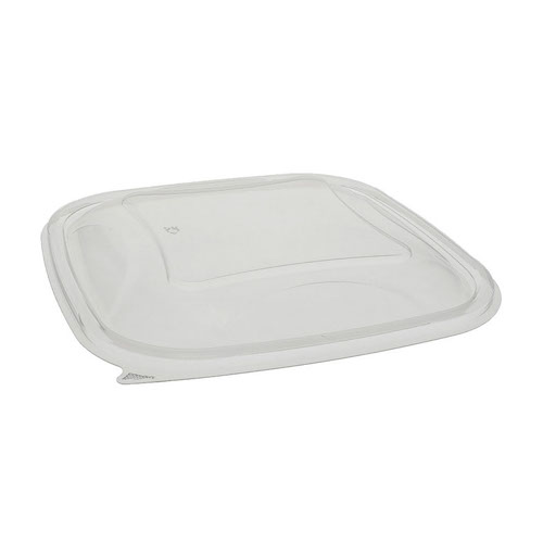 "EarthChoice rPET Clear Dome Lid for Square Bowl - 48-64 oz - 9"" - SACLD09"