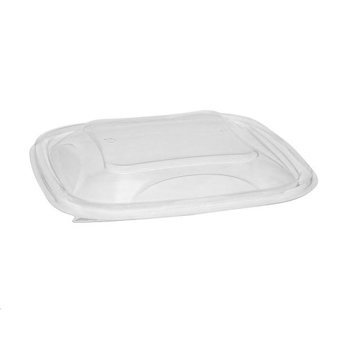 "EarthChoice rPET Clear Dome Lid for Square Bowl - 24-32 oz - 7"" - SACLD07"