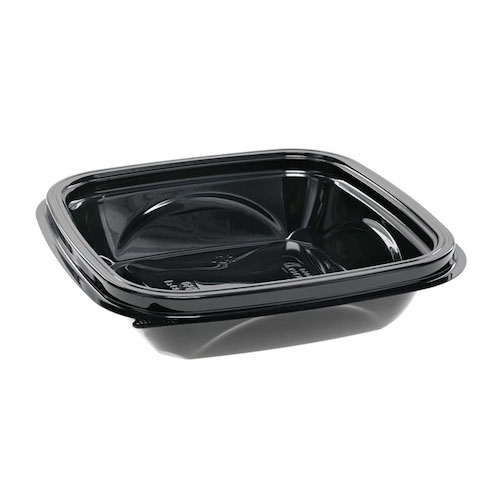"EarthChoice rPET Black Square Bowl - 8 oz - 5"" - SAB0508"