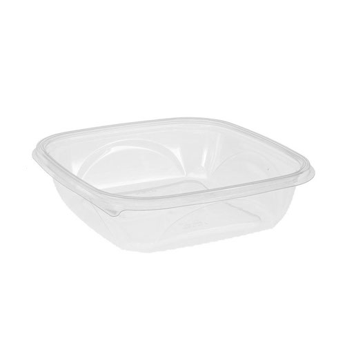 "EarthChoice rPET Clear Square Bowl - 48 oz - 9"" - SAC0948"